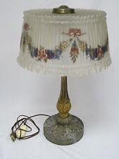 """STUNNING PAIRPOINT FLORAL REVERSE PAINTED GLASS TABLE LAMP ~ 23"""" H"""