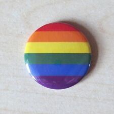 Rainbow flag - 25mm Button Badge - Gay Rights LGBT