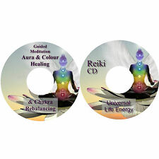 Guided Meditation Aura Colour Healing Chakra Re-balancing Reiki 2 CDs Relaxation