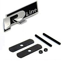 VW R Linea logo nero Griglia in metallo auto emblema badge TUNING PER POLO PASSAT GOLF UK