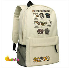 Japanese Game Neko Atsume ねこあつめ  Cute Cat Shoulder Bag Backpack School Bag Sa B