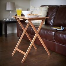 Table de friandises TV pliante compacte portable café placage en bois naturel table top