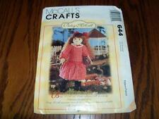 McCalls Crafts Sewing Pattern 644 Betsy McCall Doll with Clothes   UNCUT