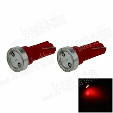 2X Red T5 1 COB LED Dashboard Licence Plate Speed Wedge Light Car Bulb Lamp B003