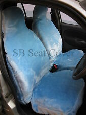 BMW 1 SERIES / 3 SERIES CAR SEAT COVERS BABY BLUE FAUX FUR - FULL SET