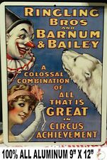 Old Circus Advertisement with CLOWN AND BEAR / CLOWNS, ACROBAT, CIRCUS,