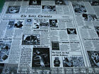 1 Yard Quilt Cotton Fabric - Timeless Treasures Kitty Chronicles Cat Newspaper
