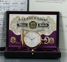 A. Lange & Söhne Glashütte Louis XV 18k Gold Savonette 1900  Box zertifikat