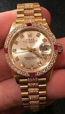 Rolex 18K Ladies Crown Collection President Bracelet 69068 SUPER KARAT BRACELET