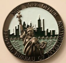 FBI New York Office NYO Statue of Liberty Manhattan Skyline Challenge Coin NYPD