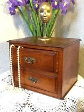 Stunning Antique Mahogany Apprentice Piece Small Chest of Drawers/Cabinet