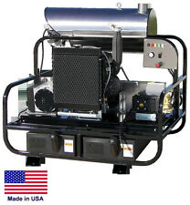 PRESSURE WASHER Diesel Hot Water - Skid Mounted - 8 GPM  3500 PSI - 23 Hp  12V