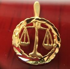 Michael Anthony 14k Yellow Gold Libra Pendant Zodiac Law Scales Of Justice Charm