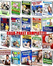 CASH-PAKET KOMPLETT 21 eBooks zum Thema GELD VERDIENEN Sammlung  PACK PDF gEiL