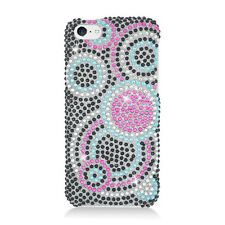 For Apple iPhone 5C Crystal BLING Hard Case Phone Cover Bubble