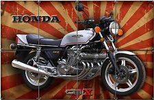 """HONDA CBX 1000 MOTORCYCLE METAL SIGN COLLAGE 48""""WIDE X 31"""" HIGH.COLLECTABLE,"""