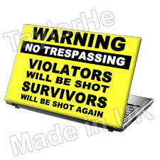 "15.6"" Laptop Skin Cover Sticker Decal Funny Warning 18"