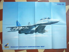 2009 PLAQUETTE + POSTER MIG 35 MULTIROLE COMBAT AIRCRAFT RUSSIAN AIRCRAFT