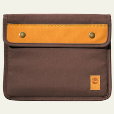Timberland Unisex Natick Water-Resistant Brown Cotton Tablet Sleeve Style J0810