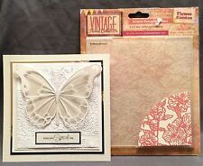 Crafter's Companion Embossing Folders FLOWER GARDEN folder EF6-VF-FLOG Floral
