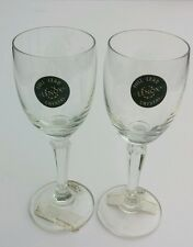 NEW WITH TAGS 2 Lenox Full Lead Crystal Cordial Glasses THE LENOX SHOP
