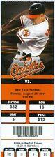 2011 Orioles vs Yankees Ticket: Derek Jeter's 2,402nd game beats  Mickey Mantle