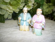 CHINESE MAN AND WOMAN FIGURINES PORCELAIN MADE IN JAPAN