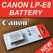 NEW LP-E8 Li-ion Battery Pack for Canon EOS 550D 600D 650D 700D Kiss X4, X5, X6