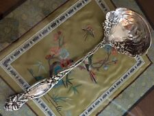 International Frontenac Sterling Silver Soup Oyster Ladle Mono 10'