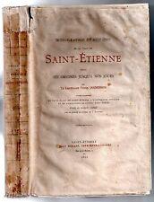 JANNESSON MONOGRAPHIE ET HISTOIRE DE LA VILLE DE SAINT-ETIENNE 1891 EO NUM Vergé