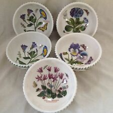 "5  X PORTMEIRON BOTANIC BOWLS 5.5"" PRIMROSE BINDWEED PANY CYCLAMEN ALMOST MINT"