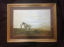 "Gerald Coulson "" The Ploughman and The Sea "" Framed Print"
