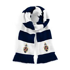 Retro Bolton Wanderers Navy/White Traditional Football Scarf Embroidered Logo