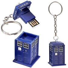 Doctor Who Tardis 4 Gb Memoria Usb Luz de trabajo key-chain Gran Regalo