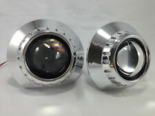 "E46-R EXTENDED SHROUDS PROJECTOR HID RETROFIT plus Centric Rings 2.5 & 3"" LENS"