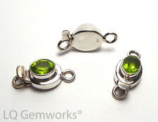 PERIDOT 925 Sterling Silver 24mm Faceted Box Clasp /P1