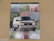 1997 GMC Safari Van SLX SLE SLT Original Sales Brochure Dealer Catalog