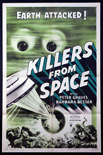 KILLERS FROM SPACE BULB-EYED SPACE MONSTER SCIENCE FICTION 1954 1-SHEET