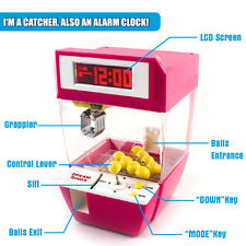 Carnival Electronic Mini Claw Machine Game with Lights, Music and Alarm Clock