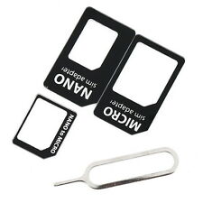 4 in 1 Good Quality Universal SIM Card Adapter Kit For iPhone 4 5  NR
