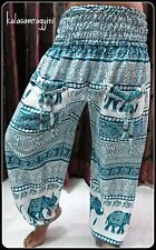 GENIE INDIAN ALI BABA HAREM HIPPIE PANTS YOGA MEN WOMEN BOHO TROUSER BAGGY GYPSY