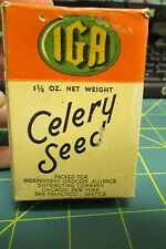 IGA Spice Box IGA Celery Seed - Independent Grocers Alliance 1935 copyright Nice