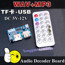 Remote USB SD Card WAV Sound Audio Player Wireless MP3 Decoding Decoder Board