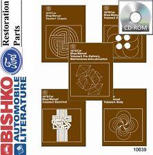 1978 Ford Lincoln Mercury Shop Service Repair Manual CD