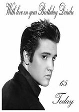 Personalised birthday card-elvis presley tout âge, nom ou relation