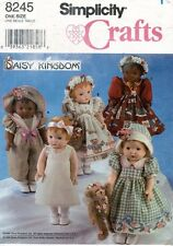 """Simplicity Daisy Kingdom Doll Clothes  Pattern 8245 Size 18"""" UNCUT"""