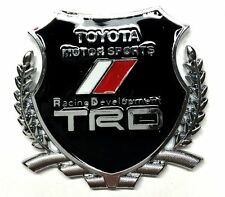 x1 New TRD Crest Emblem Replaces OEM Toyota Racing Development Sports Badge