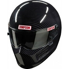 SIMPSON RACING CARBON BANDIT HELMET LG #620003C SA 2015 SFI FIA HEAD/NECK READY