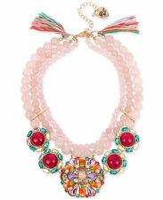 NWT BETSEY JOHNSON SWEET SHOP PINK BEAD STONE CLUSTER STATEMENT NECKLACE MUL$165