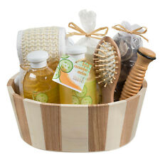 Fresh Cucumber melon two tone wood spa basket!
